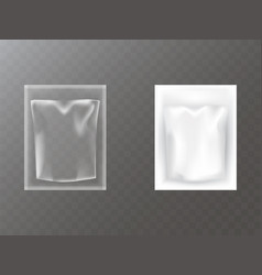 plastic packets realistic vector image
