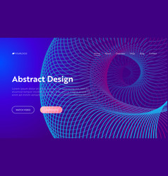 Purple abstract spiral shape landing page vector