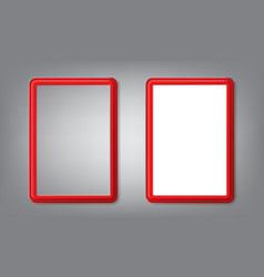 Realistic red frames with rounded corners and vector