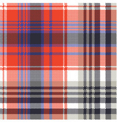 Red check pixel plaid seamless pattern vector