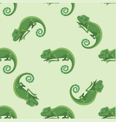 Reptile chameleon amphibian seamless pattern vector