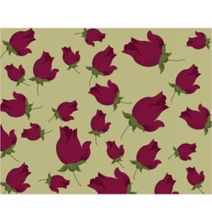 Roses pattern background vector