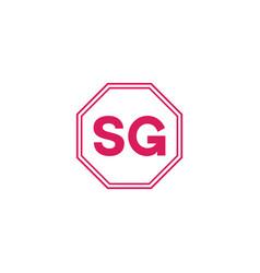 s g letter logo creative design vector image