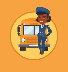 school bus driver vector image