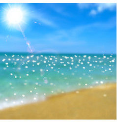 Sea beach and sun vector image