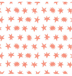 seamless pattern with birthday stars vector image