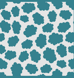 Seamless teal and light grey cloud pattern vector