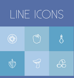 set of 6 editable cooking icons includes symbols vector image