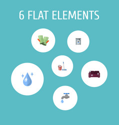 Set of hygiene icons flat style symbols with vector