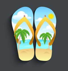 Slippers beach vector