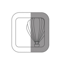 Sticker square silhouette button with contour hot vector