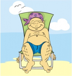 tanning in chair vector image