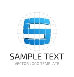 Template logo s vector image