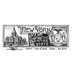 The state banner of new york the empire state vector
