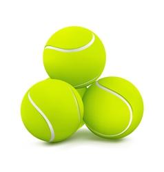 Three tennis balls vector