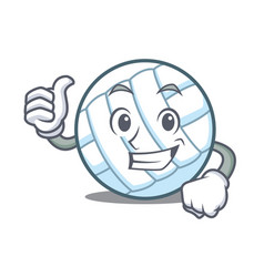 Thumbs up volley ball character cartoon vector