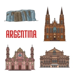 Tourist attractions of Argentina vector