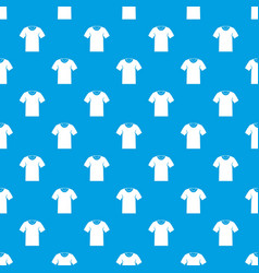 Tshirt pattern seamless blue vector