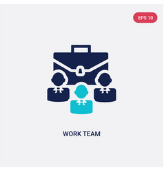two color work team icon from job resume concept vector image