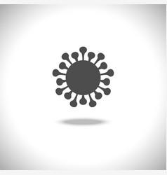 Virus icon isolated on white background vector