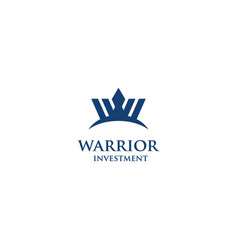 warrior investment vector image