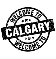 Welcome to calgary black stamp vector