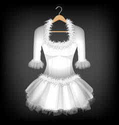 White dress vector