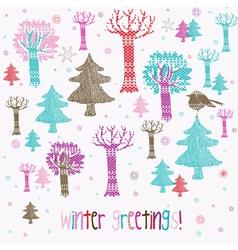 Winter greetings vector
