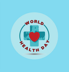 world health day vector image