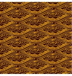 Yellow scales repeating pattern on brown backgroun vector