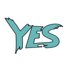 yes positive answer question vector image