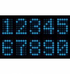 blue digits for matrix display vector image