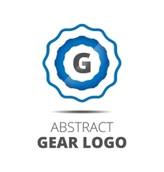 Business Abstract Gear logo vector image
