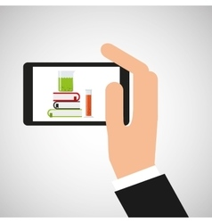 Chemistry laboratory smartphone discovery vector