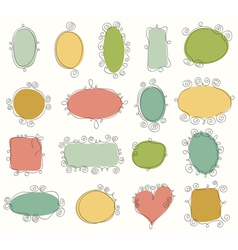 Collection of doodle frames vector image
