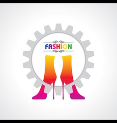 Fashion background with creative shoe vector