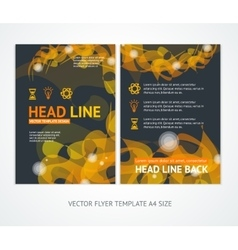 Flyer Design Templates Abstract Geometric Orange vector image vector image