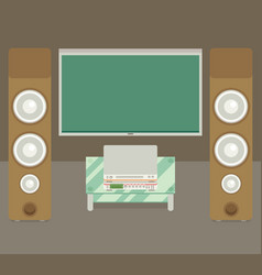 home cinema flat style vector image vector image