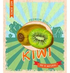 Kiwi retro poster vector image vector image