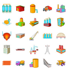 working people icons set cartoon style vector image