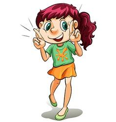 A cute little girl vector image vector image