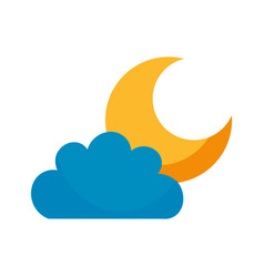 beautiful fantasy cloud with moon vector image vector image