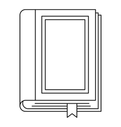 Book icon outline style vector image vector image