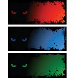 evil eye backgrounds vector image vector image