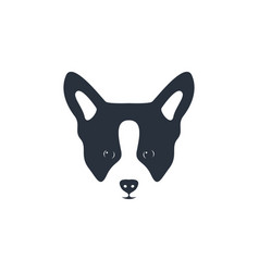 silhouette dog head icon dog face simple design vector image vector image