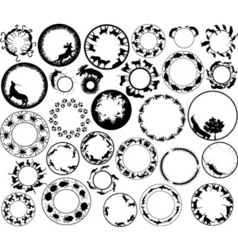 animal rings vector image vector image