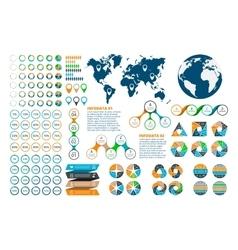 Big set of infographics elements vector image vector image