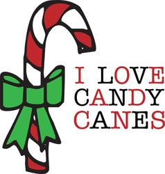 Love Candy Canes vector image vector image