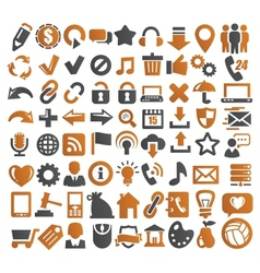 72 web icons vector image vector image