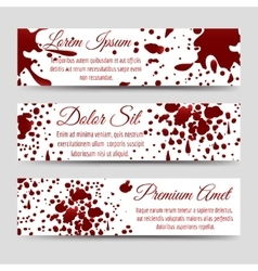 Blood splashes horizontal banners templates vector image vector image